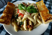 Penne With Chicken, Spinach & Pine Nuts